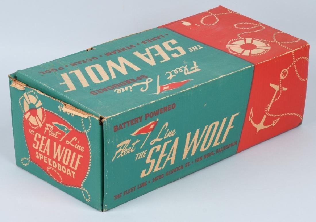 JAPAN BATTERY OP FLEET LINE SEA WOLF WOOD BOAT - 8