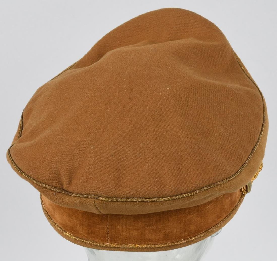 WWI NAZI BROWN VISOR HIGH LEADER CAP - 7