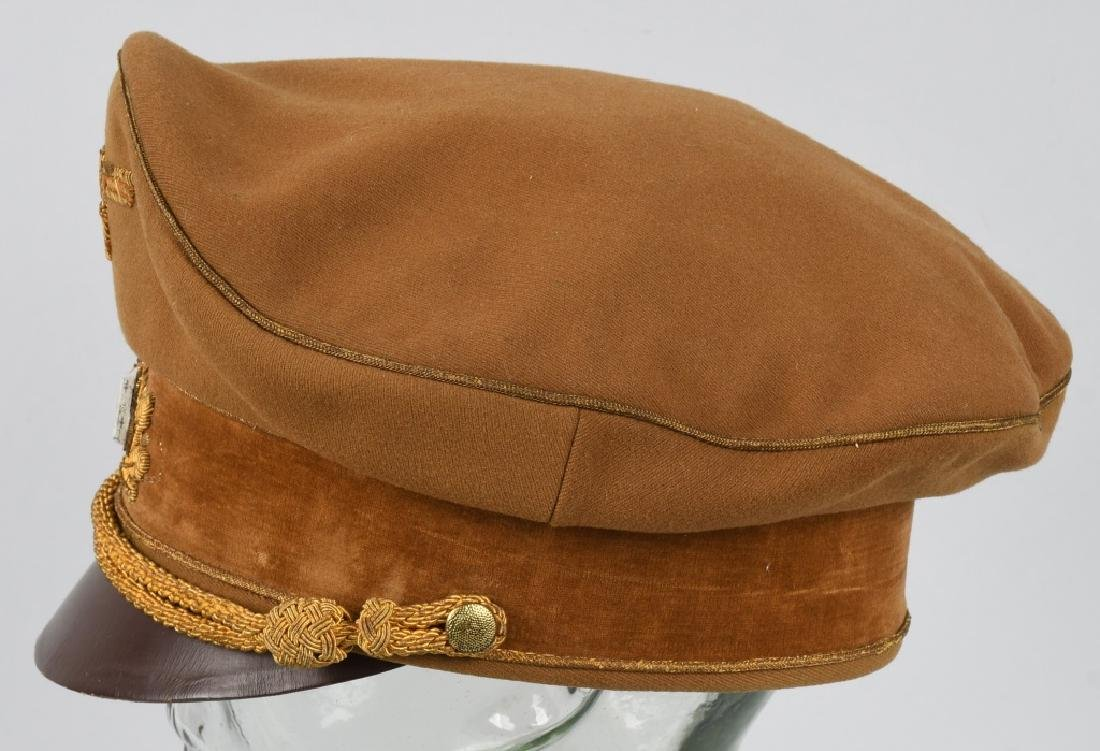 WWI NAZI BROWN VISOR HIGH LEADER CAP - 9