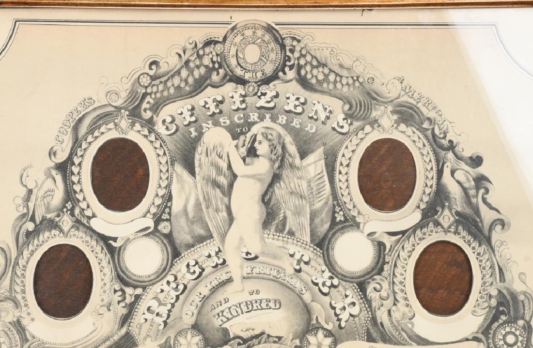 1872 CDV CITIZEN REGISTER PHOTO FRAME - 2