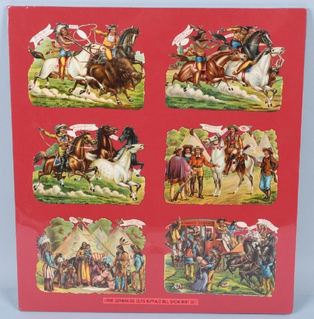 6- 1890s BUFFALO BILL DIECUT POSTCARDS