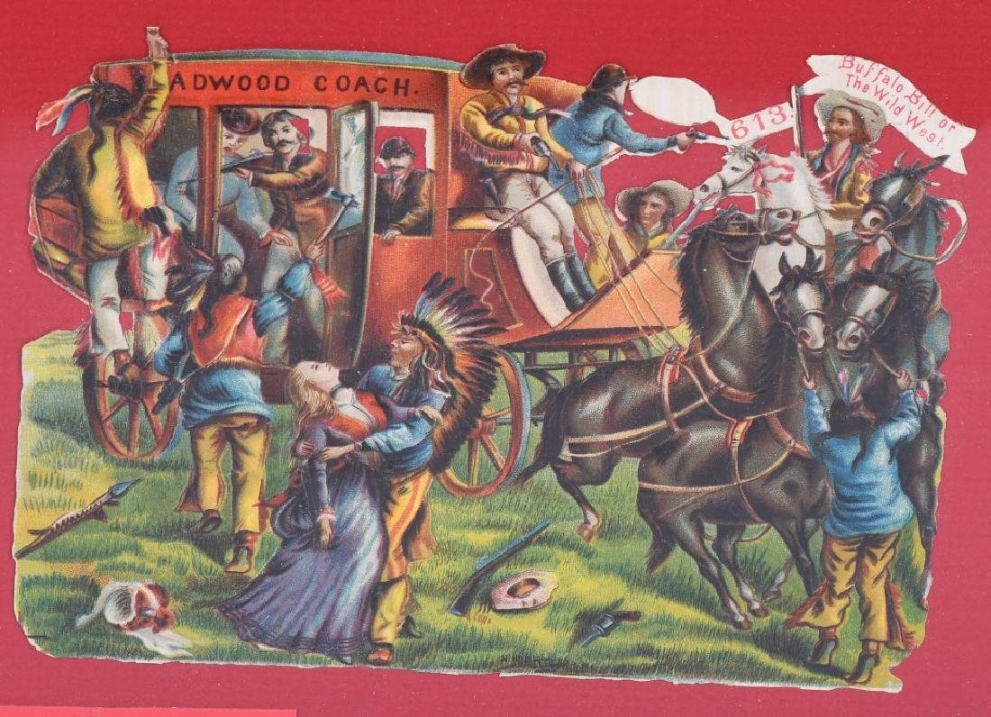 6- 1890s BUFFALO BILL DIECUT POSTCARDS - 7