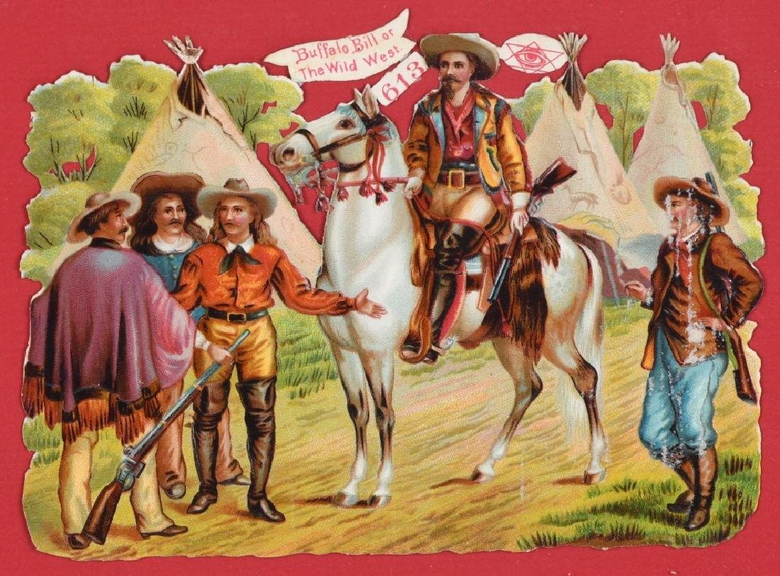 6- 1890s BUFFALO BILL DIECUT POSTCARDS - 4