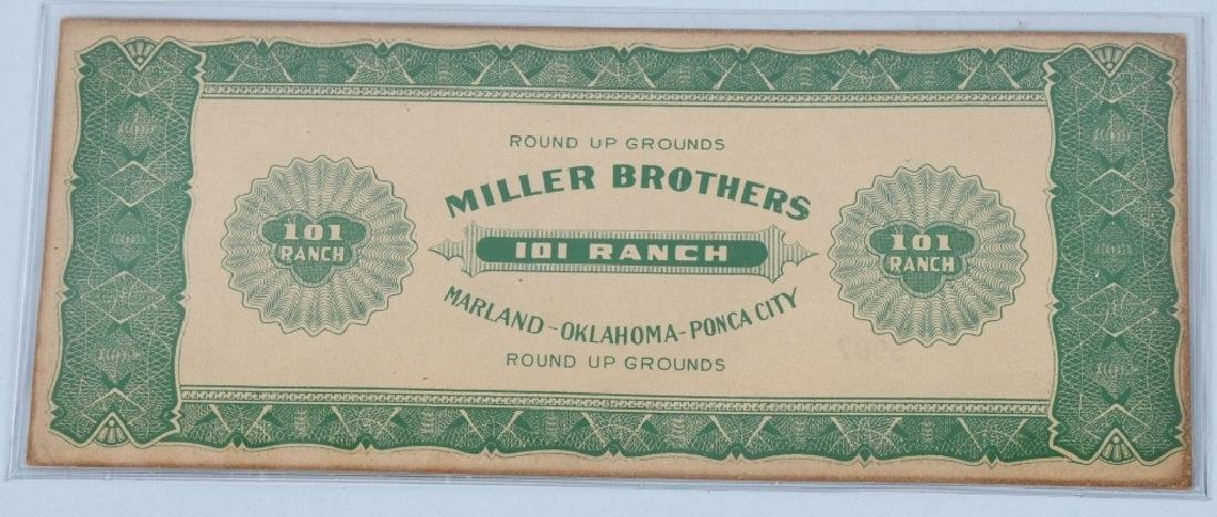 5- MILLER BROTHERS 101 RANCH MONEY - 7