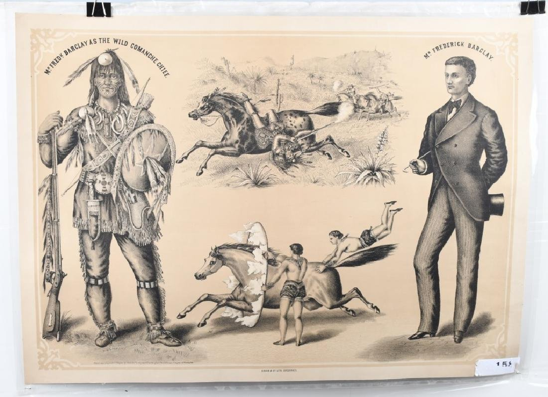 1879 FREDRICK BARCLAY WILD WEST SHOW POSTER