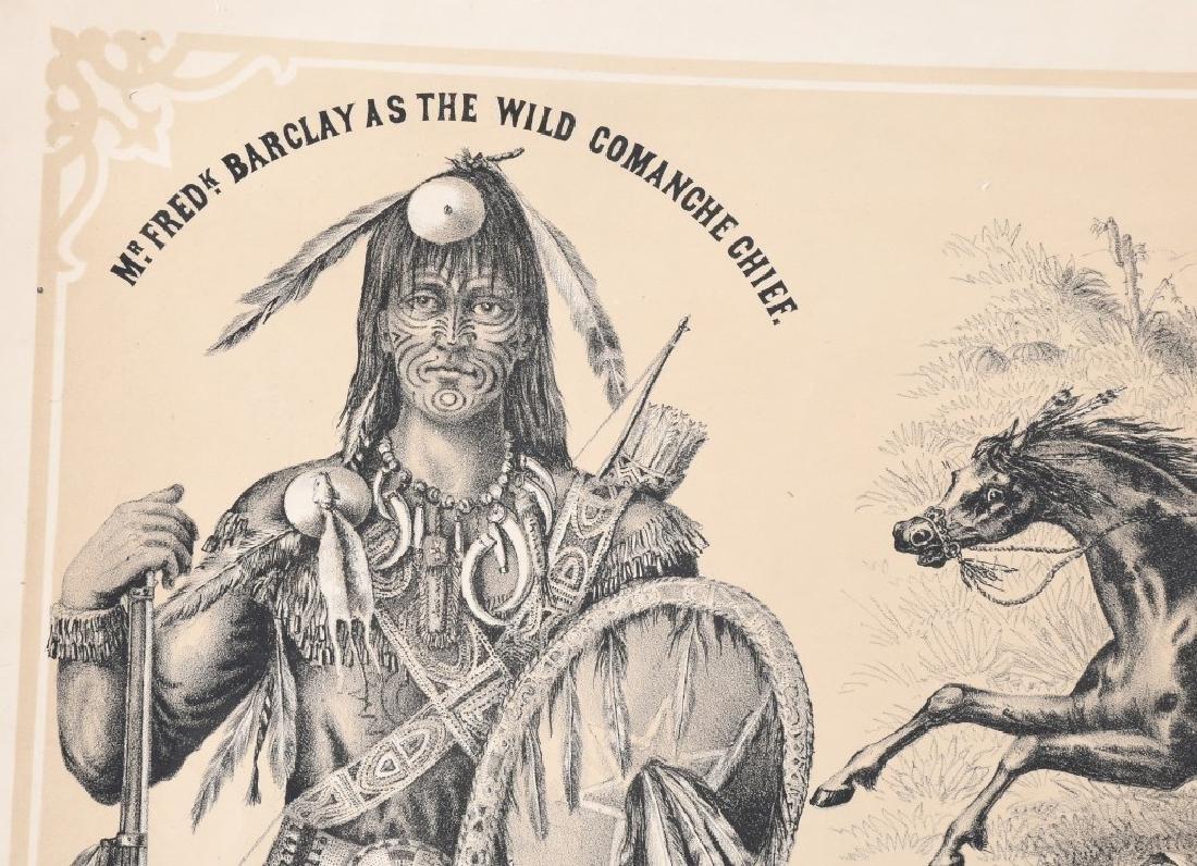 1879 FREDRICK BARCLAY WILD WEST SHOW POSTER - 2