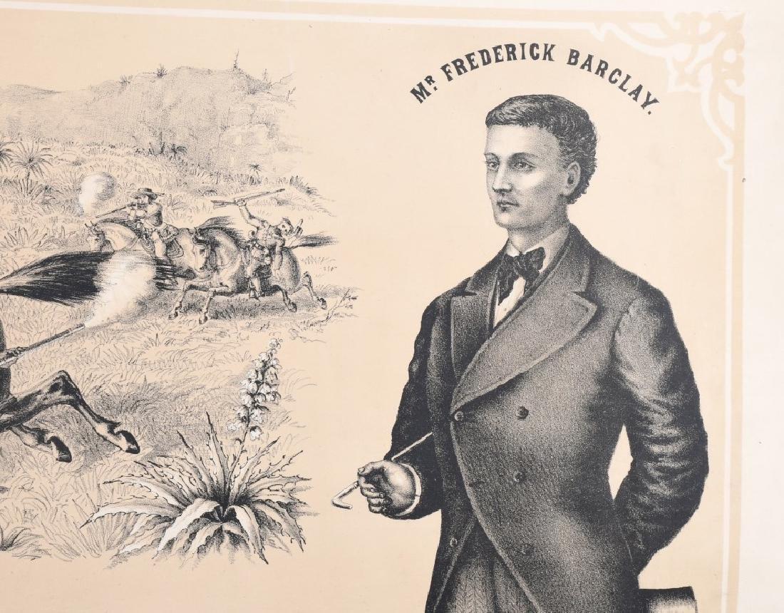 1879 FREDRICK BARCLAY WILD WEST SHOW POSTER - 5