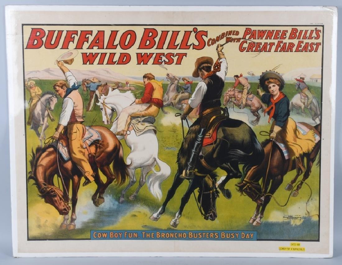 1908 BUFFALO BILL & PAWNEE BILL SHOW POSTER