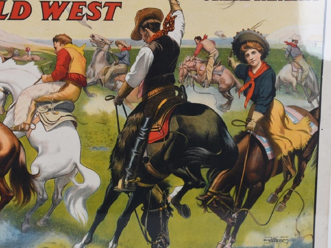1908 BUFFALO BILL & PAWNEE BILL SHOW POSTER - 3