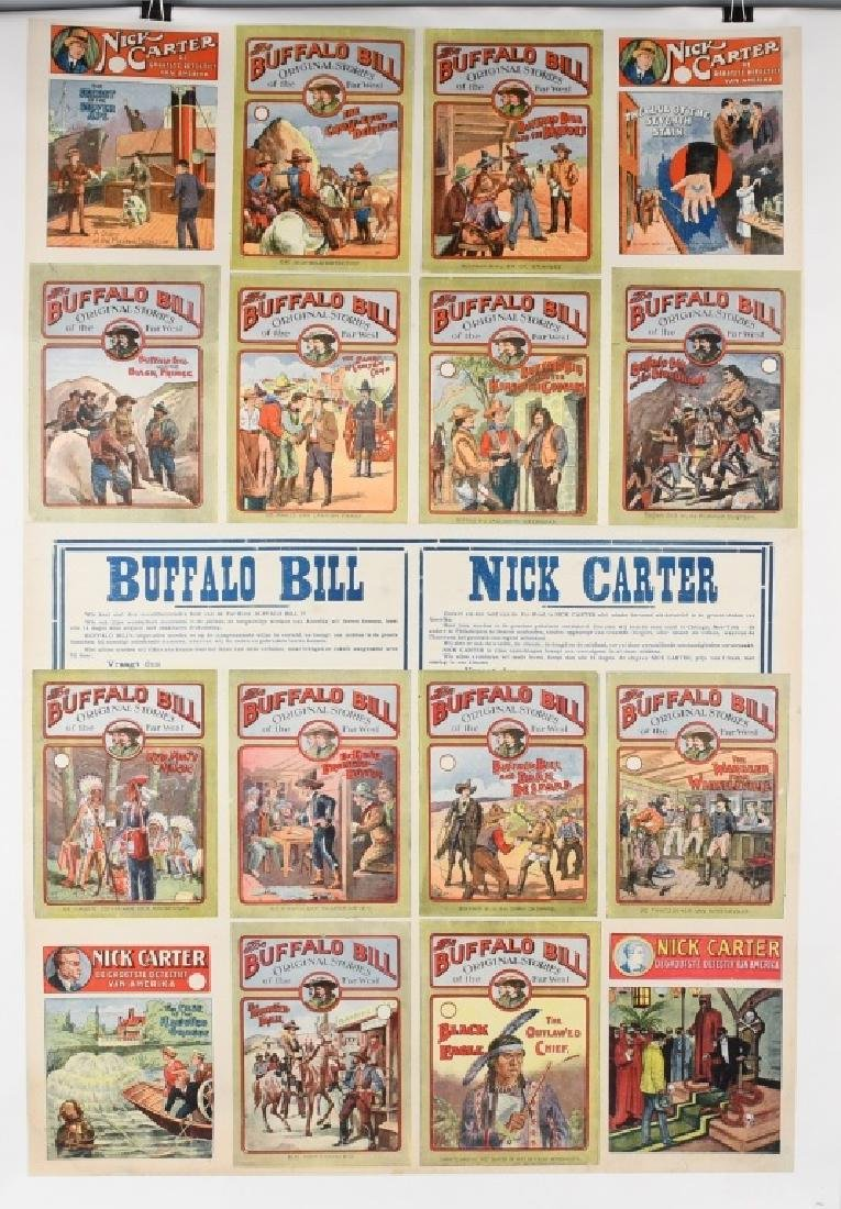 GERMAN BUFFALO BILL & NICK CARTER POSTER