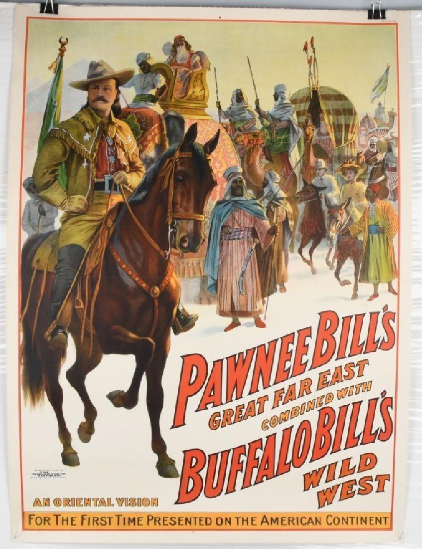 1909 PAWNEE BILL & BUFFALO BILL SHOW POSTER