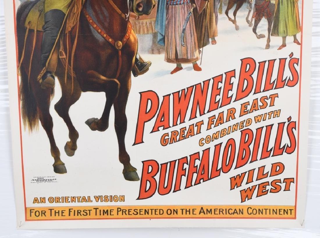 1909 PAWNEE BILL & BUFFALO BILL SHOW POSTER - 5