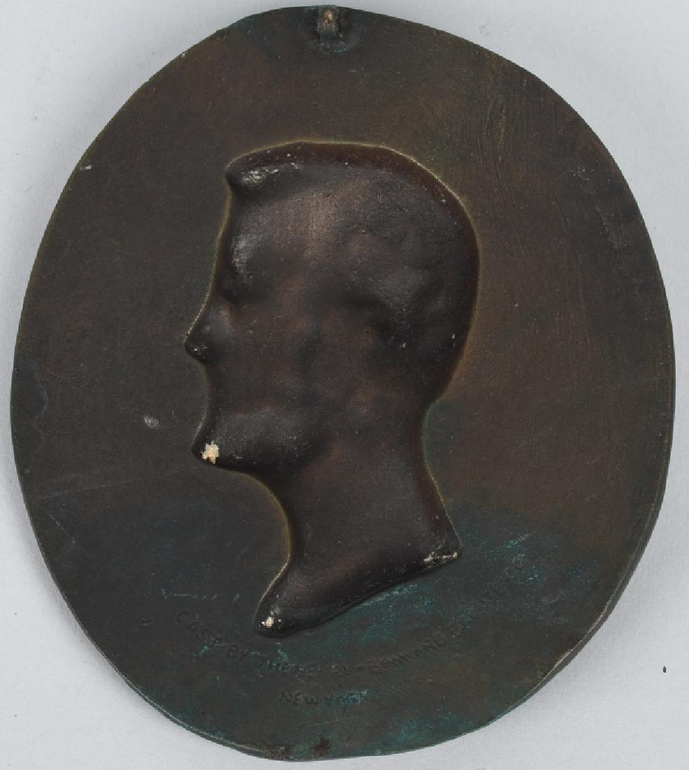 BRONZE ABRAHAM LINCOLN PLAQUE, HENRY SHRADY - 2