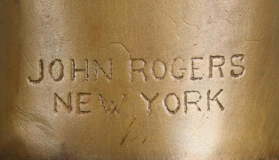 BRONZE ABRAHAM LINCOLN BUST, JOHN ROGERS, NY - 7