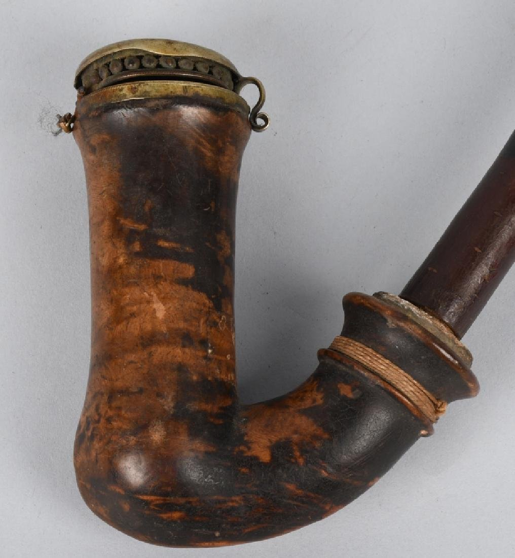 CIVIL WAR CAVALRYMAN BURL WOOD PIPE - 2