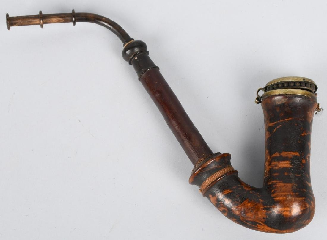 CIVIL WAR CAVALRYMAN BURL WOOD PIPE - 5