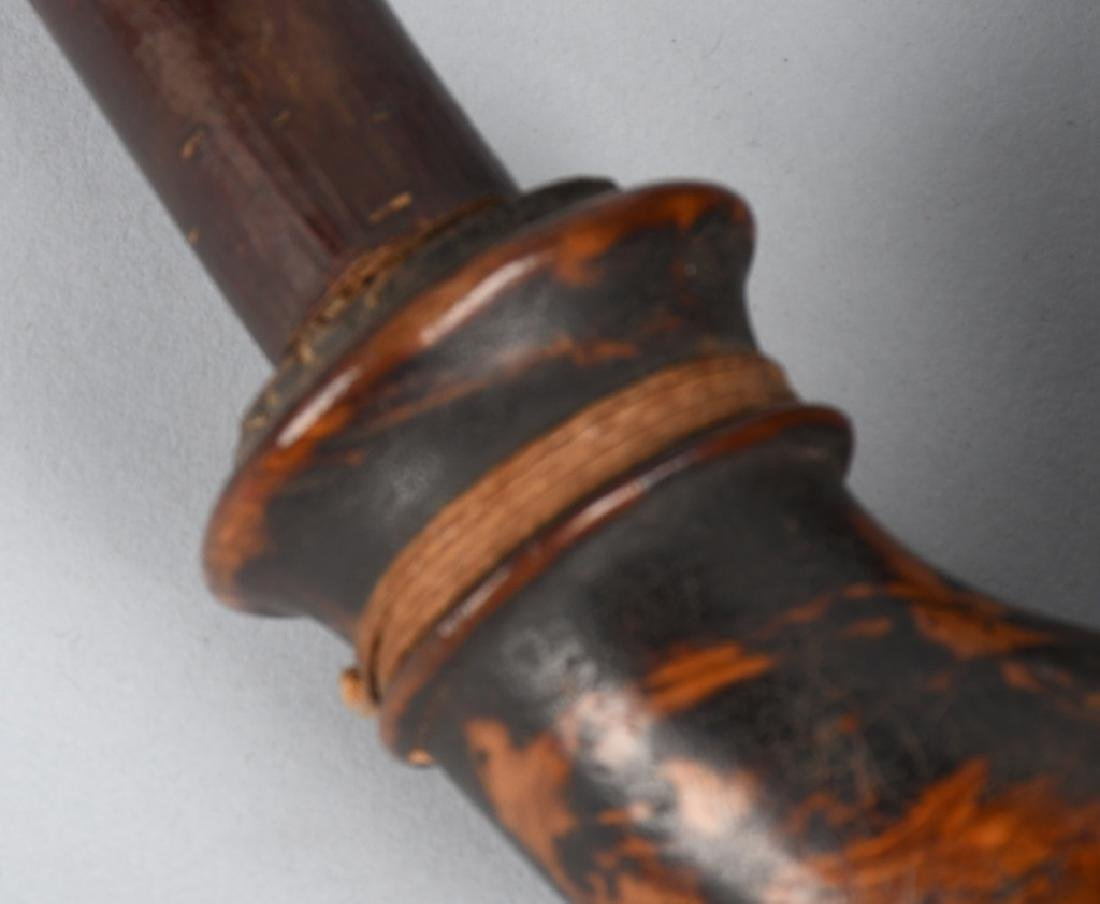 CIVIL WAR CAVALRYMAN BURL WOOD PIPE - 7