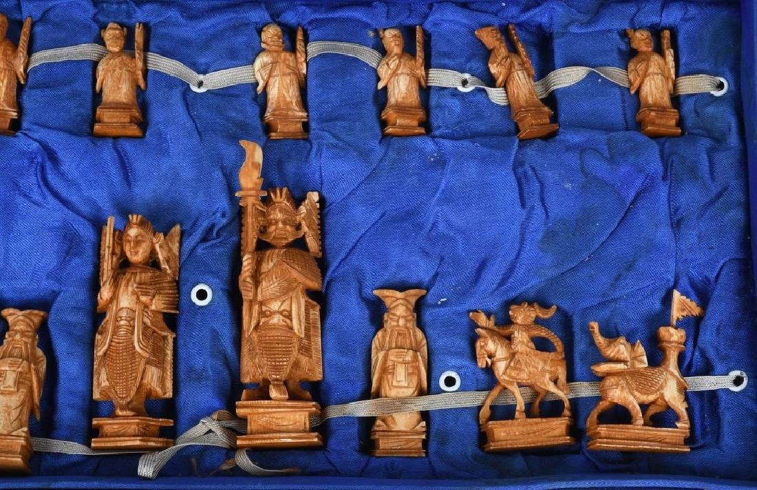 ASIAN INTRICATELY CARVED CHESS SET - 2