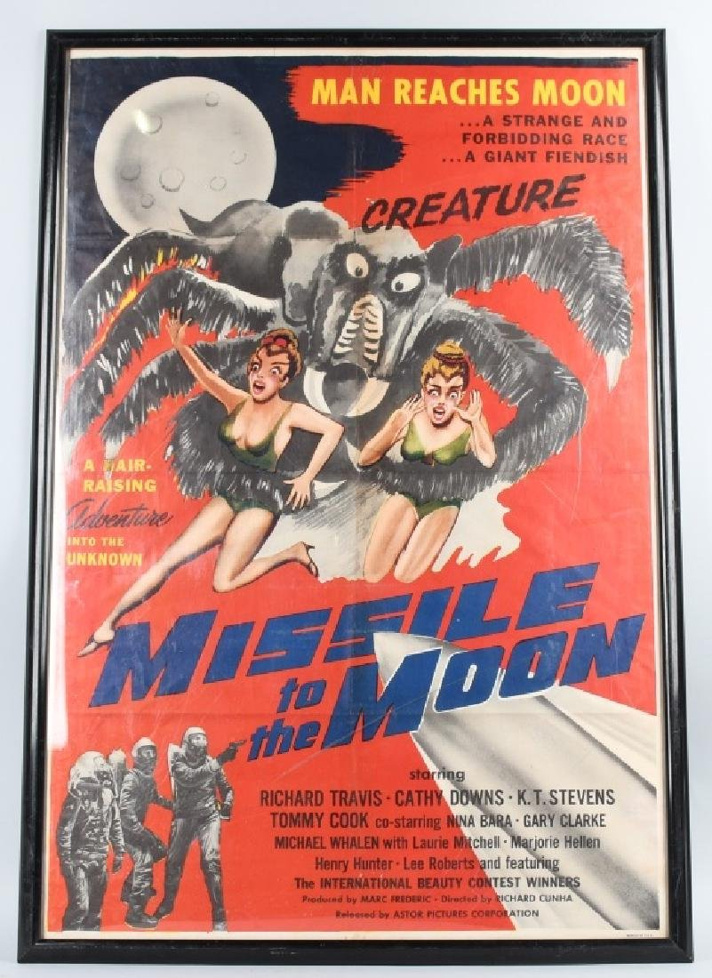 1958 MISSLE to the MOON MOVIE POSTER