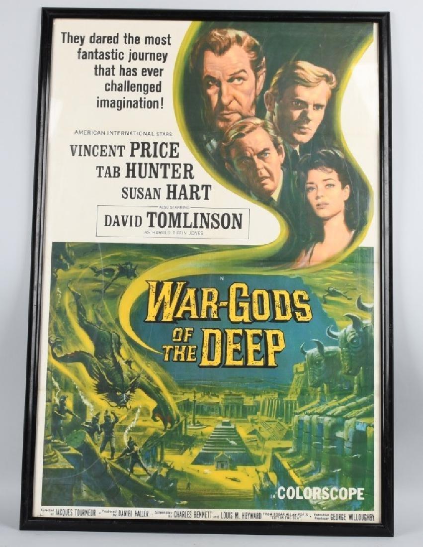 1965 WAR GODS of the DEEP MOVIE POSTER