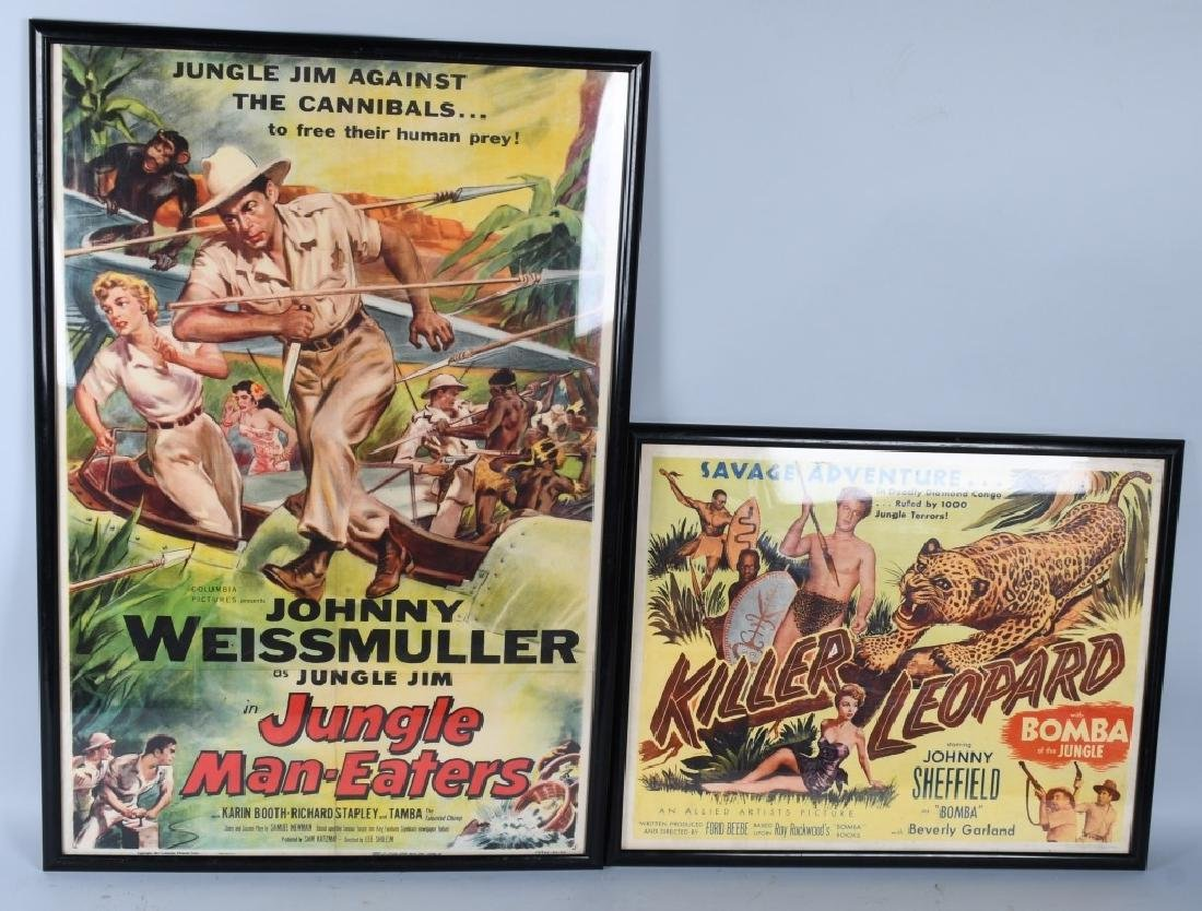 2-VINTAGE JUNGLE MOVIE POSTERS