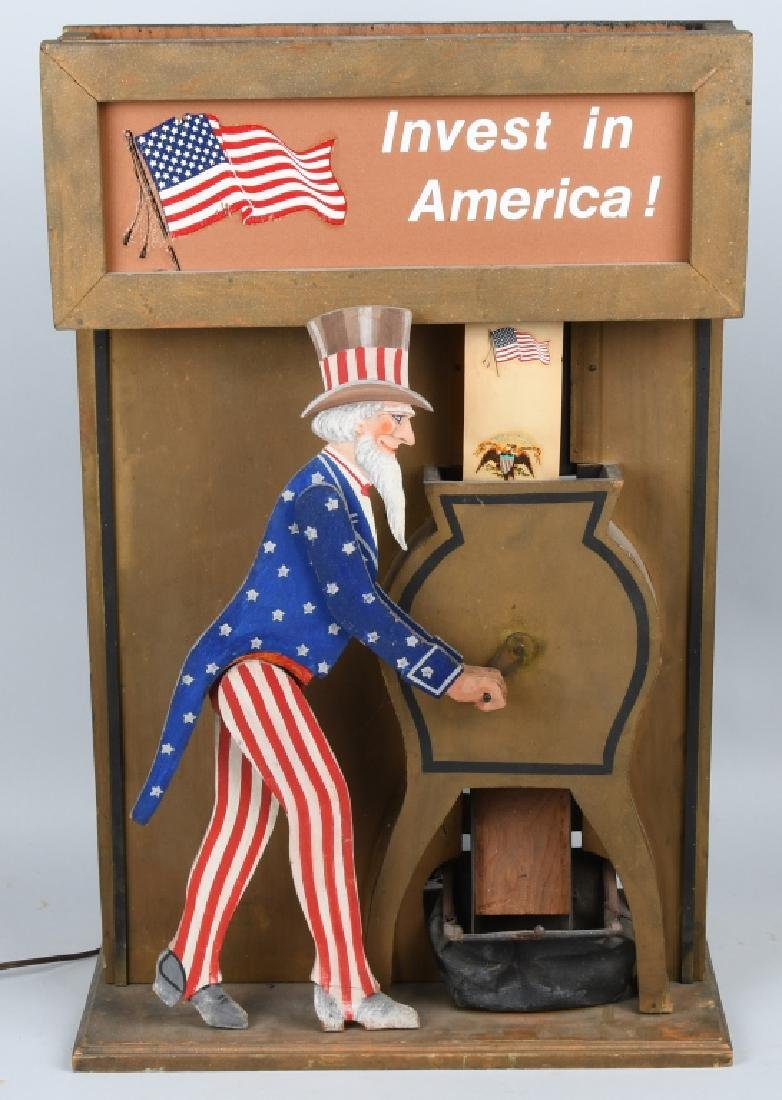 UNCLE SAM INVEST IN AMERICA AUTOMATON