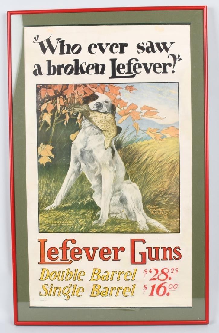 LEFEVER GUNS ADVERTISING POSTER