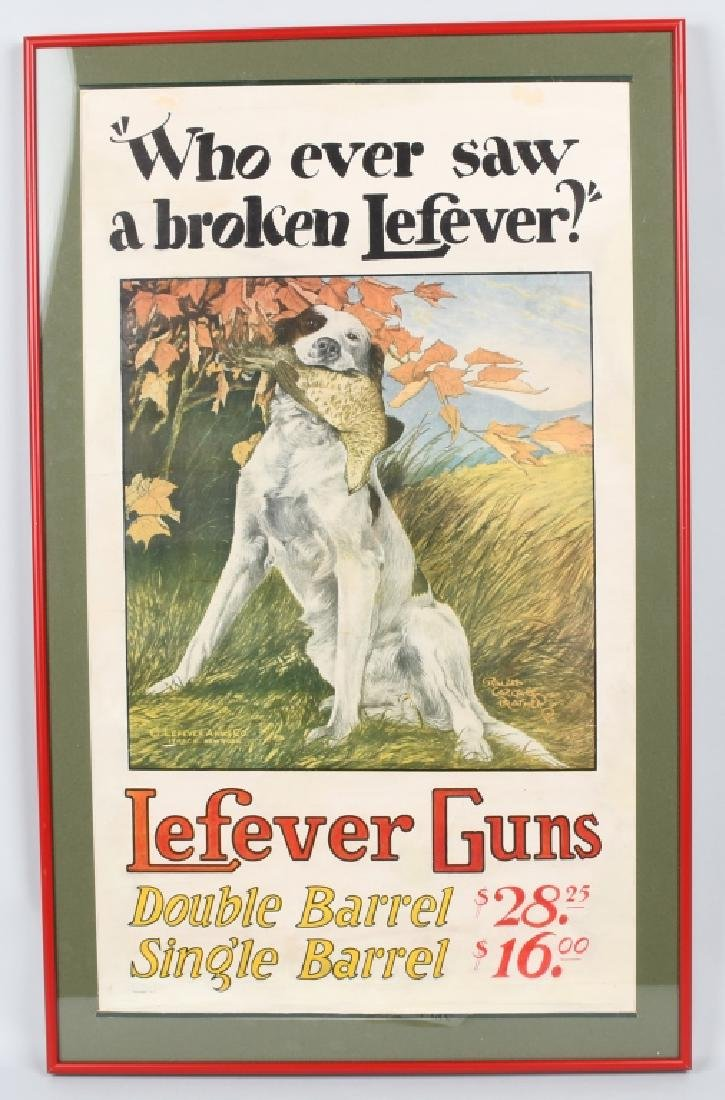 LEFEVER GUNS ADVERTISING POSTER