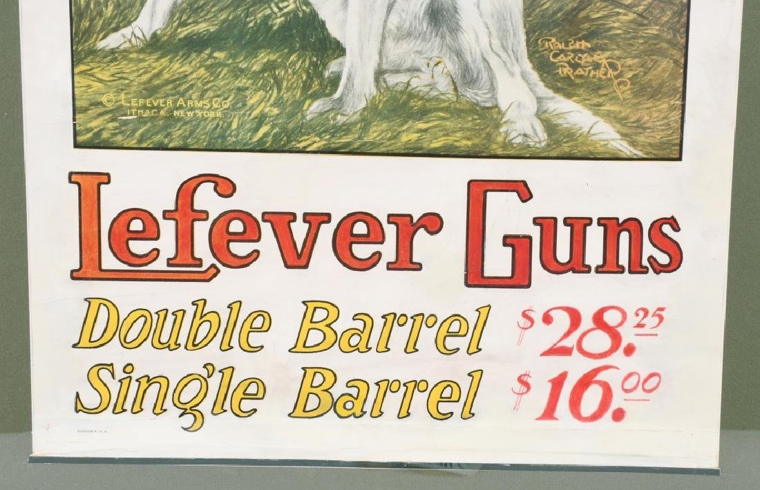 LEFEVER GUNS ADVERTISING POSTER - 4