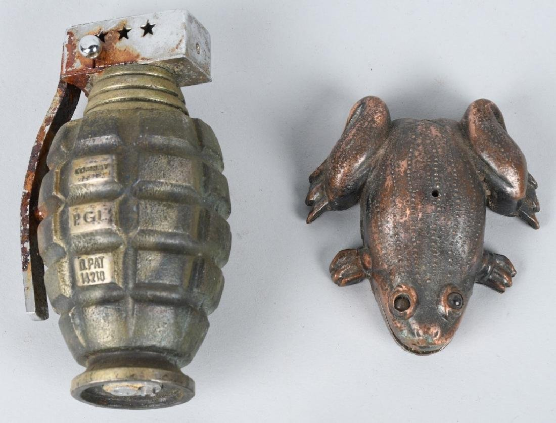 9-NOVELTY CIGARETTE LIGHTERS, GUNS, FROG & MORE - 2