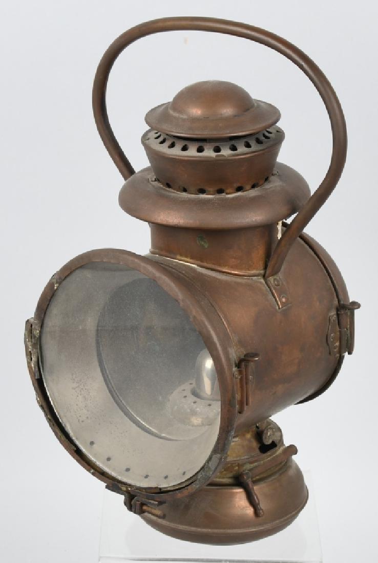 EARLY BRASS AUTO ACETYLENE HEAD LAMP