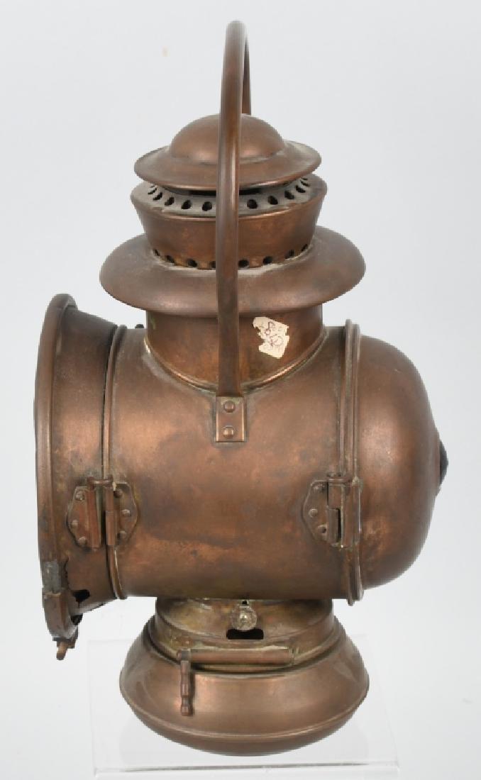 EARLY BRASS AUTO ACETYLENE HEAD LAMP - 2