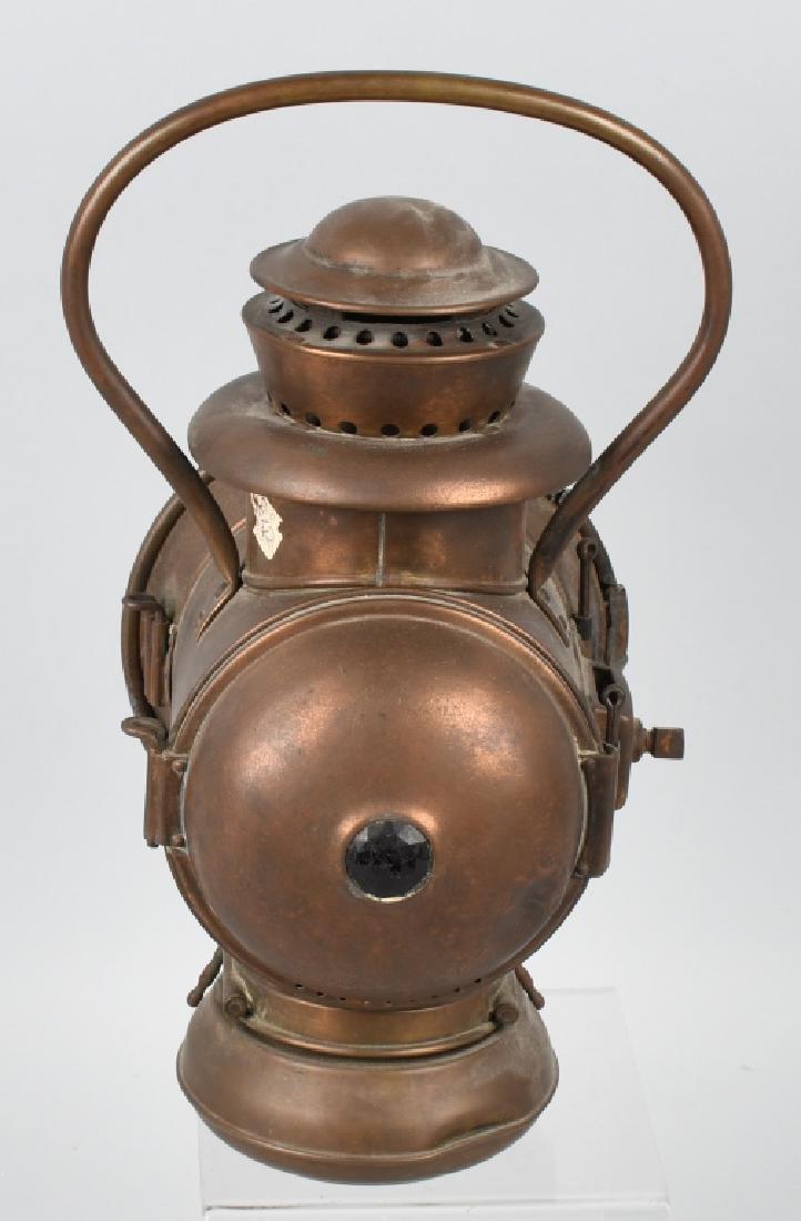 EARLY BRASS AUTO ACETYLENE HEAD LAMP - 3
