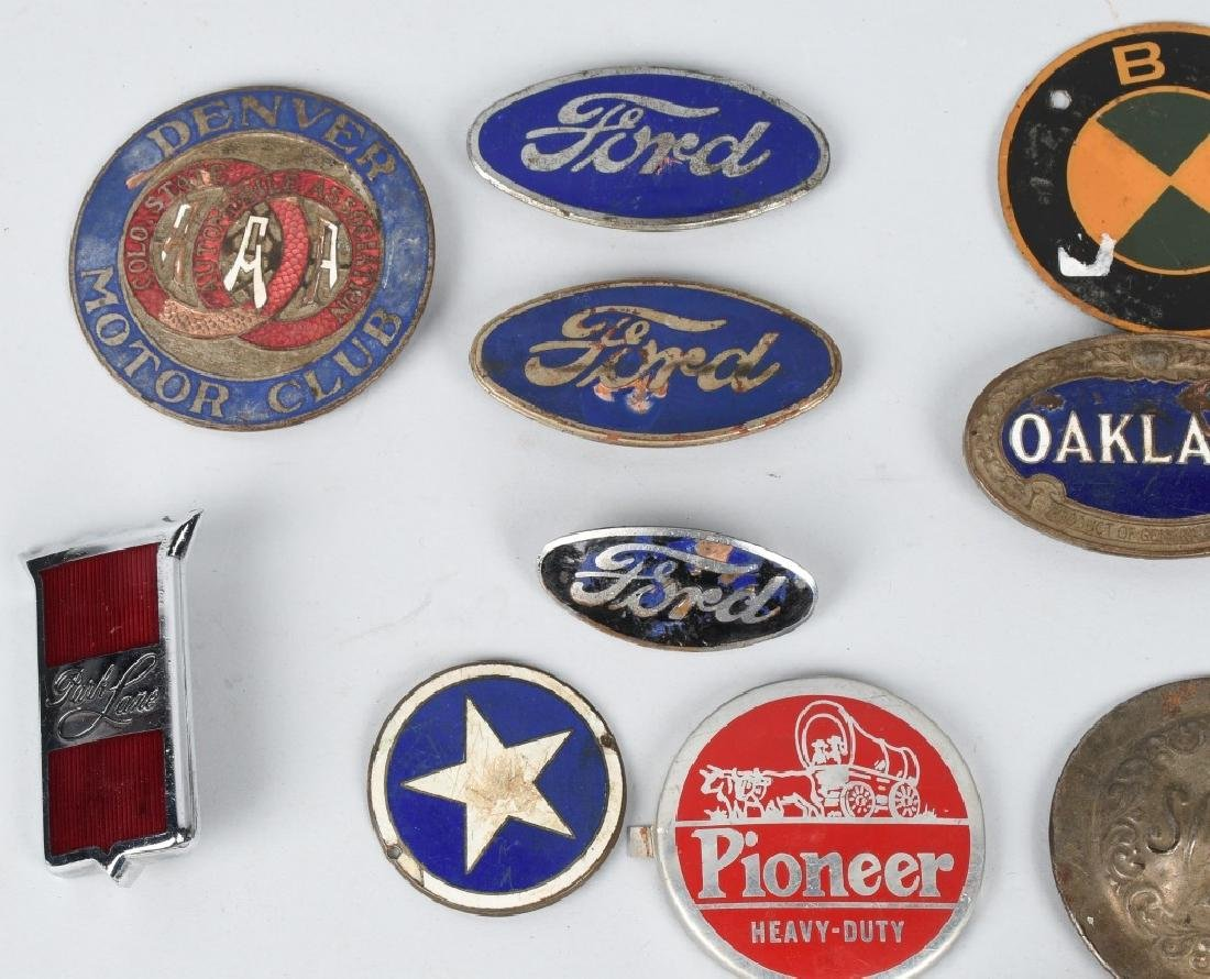 LARGE LOT of AUTOMOBILE PORCELAIN LOGOS & MORE - 2