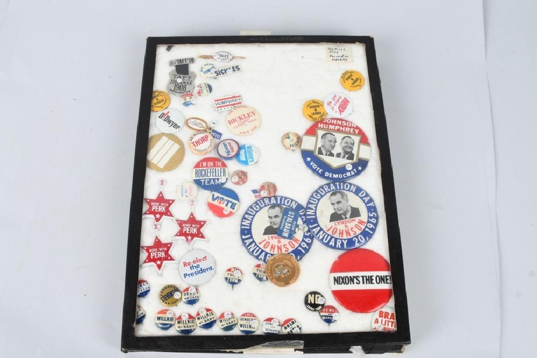 LARGE LOT of POLITICAL BUTTONS & MORE - 10
