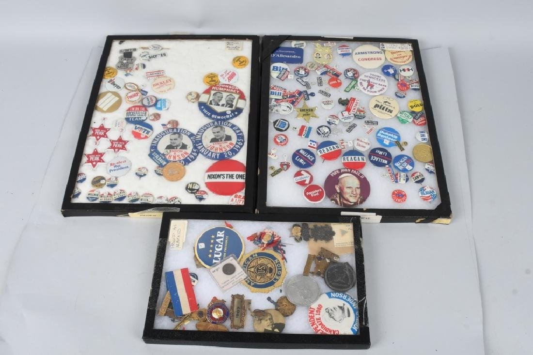 LARGE LOT of POLITICAL BUTTONS & MORE
