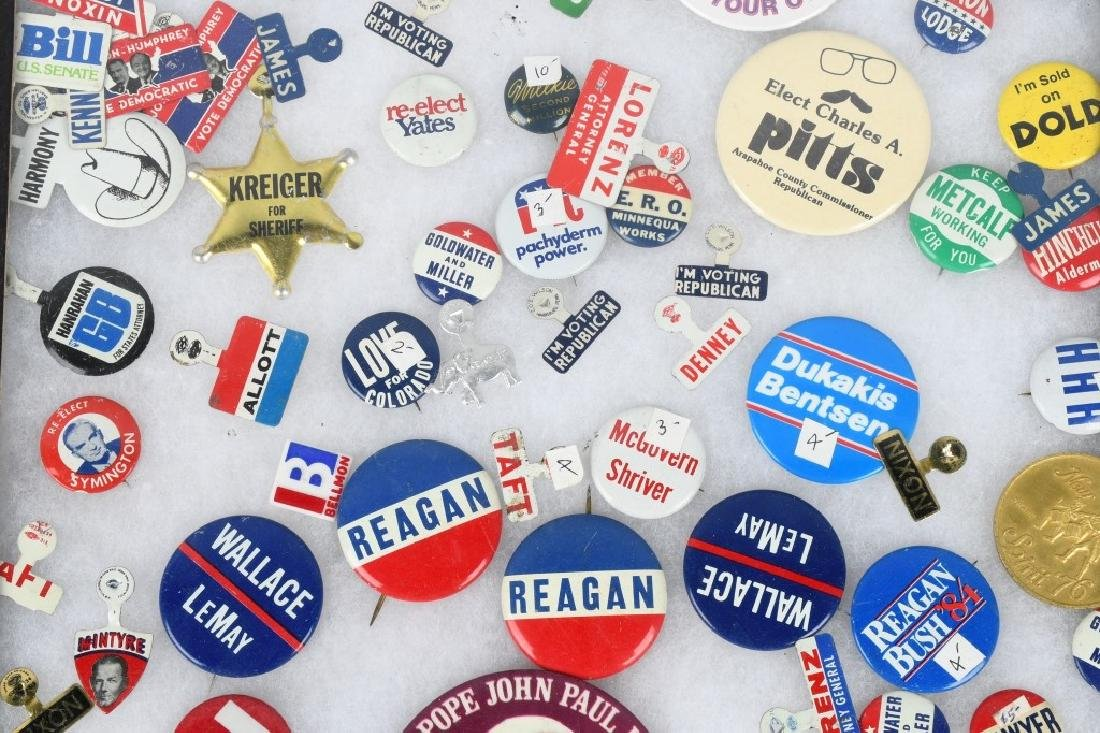 LARGE LOT of POLITICAL BUTTONS & MORE - 8