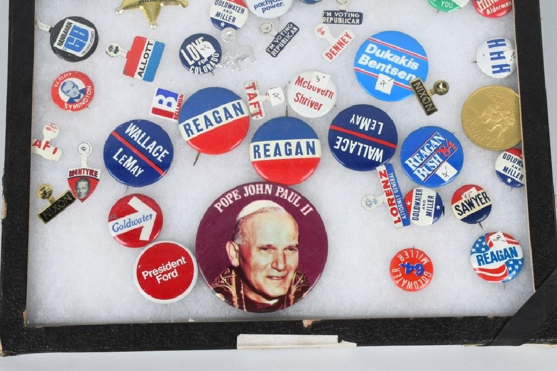 LARGE LOT of POLITICAL BUTTONS & MORE - 9