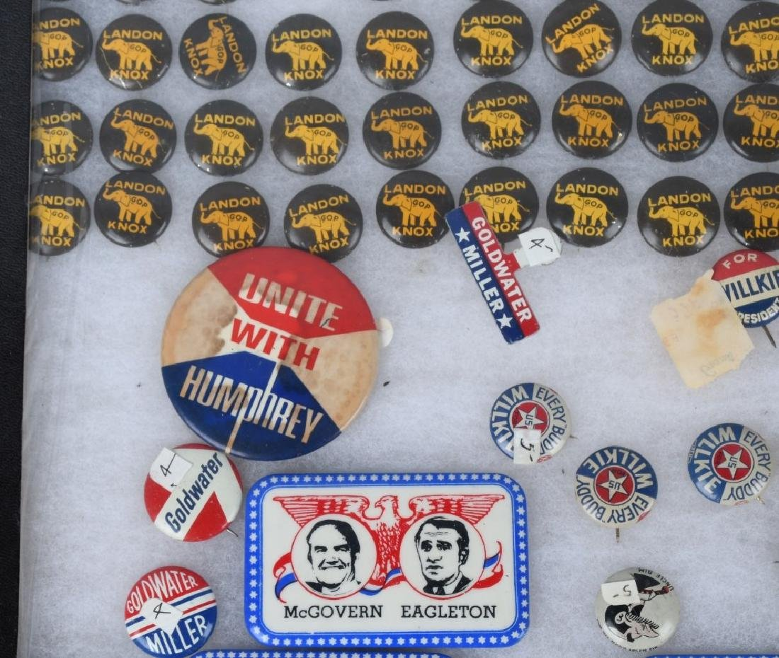 LARGE LOT of POLTICAL BUTTONS, POSTCARDS & MORE - 8