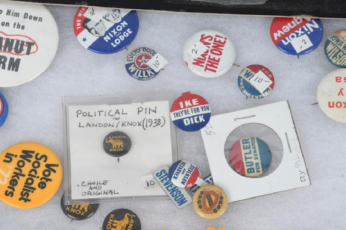 LARGE LOT of POLTICAL BUTTONS, POSTCARDS & MORE - 9
