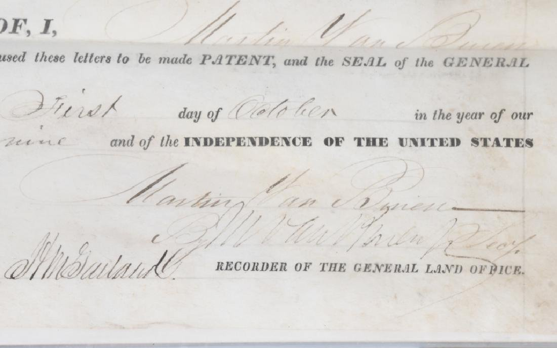 1839 UNITED STATES LAND GRANT, MARTIN VAN BUREN - 2