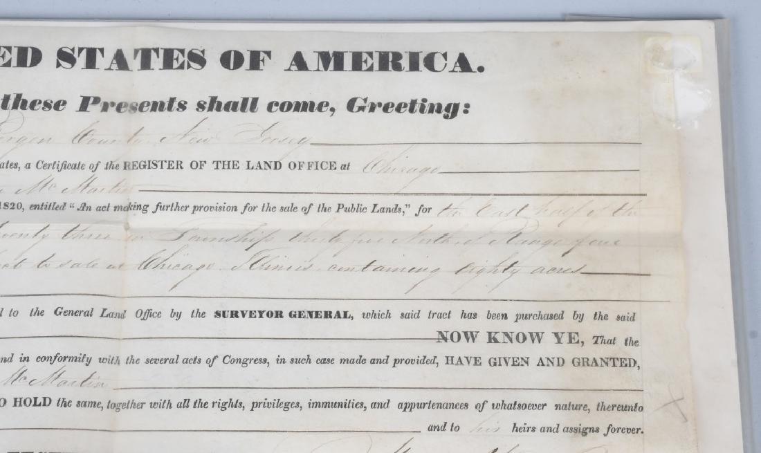 1839 UNITED STATES LAND GRANT, MARTIN VAN BUREN - 4