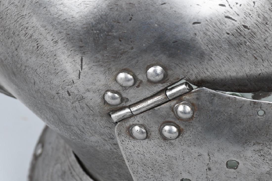 SUIT of ARMOR BURGONET OPEN FACE HELMET - 10