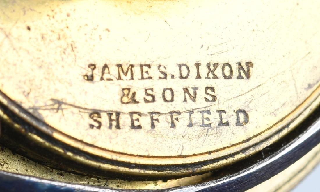 JAMES DIXON COPPER BAG GUNPOWDER FLASK - 5