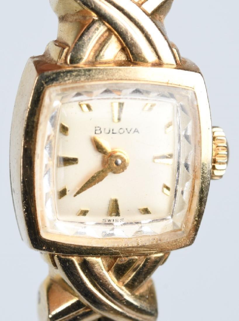 BULOVA 10K LADIES WRIST WATCH - 2