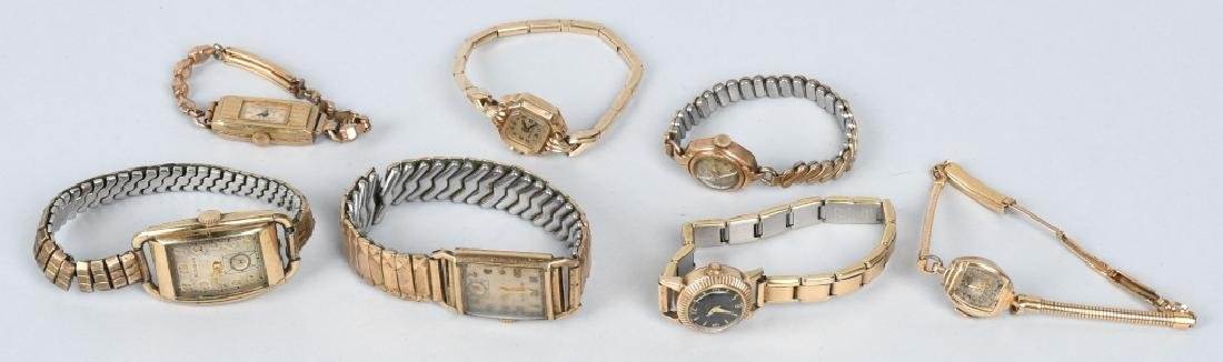 7-10K GOLD FILLED & PLATED WRIST WATCHES