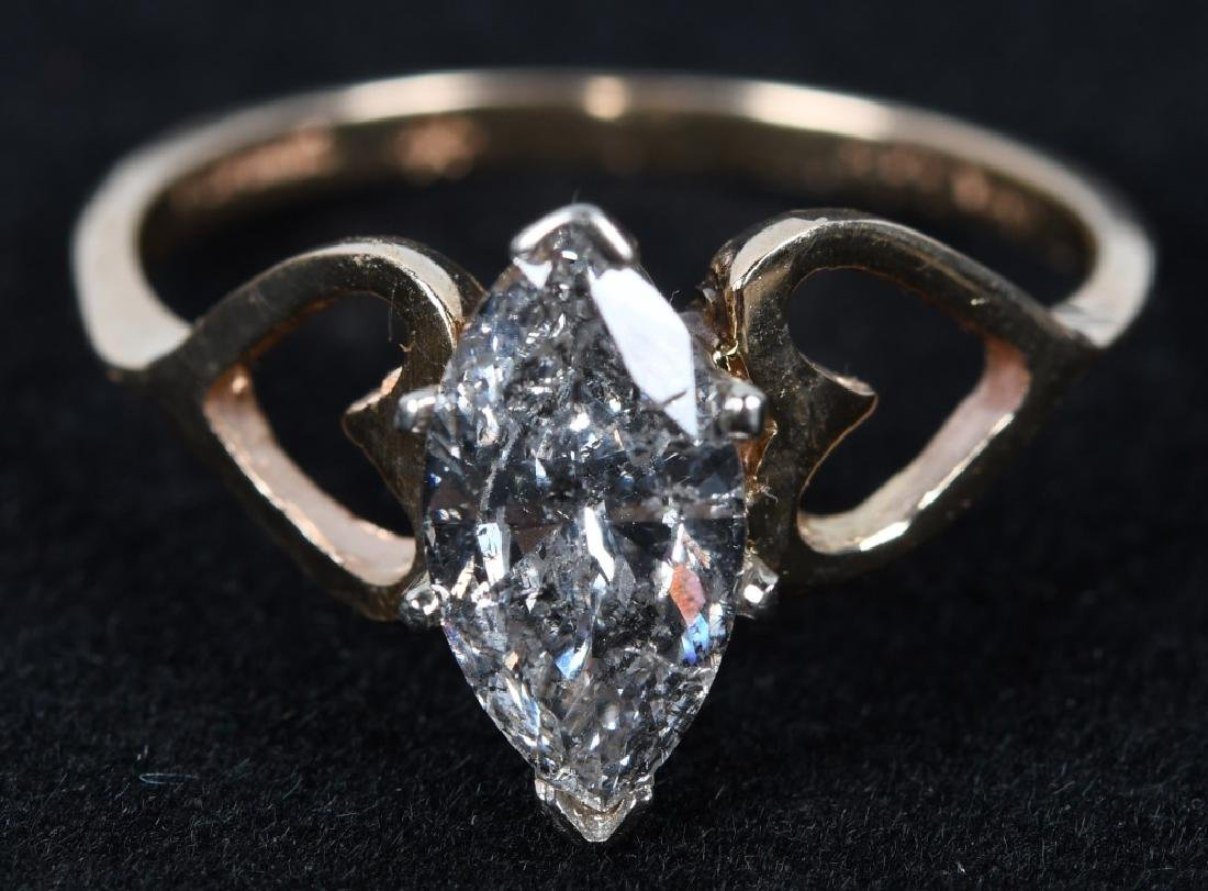 1.25CT MARQUISE DIAMOND 14KT ENGAGEMENT RING