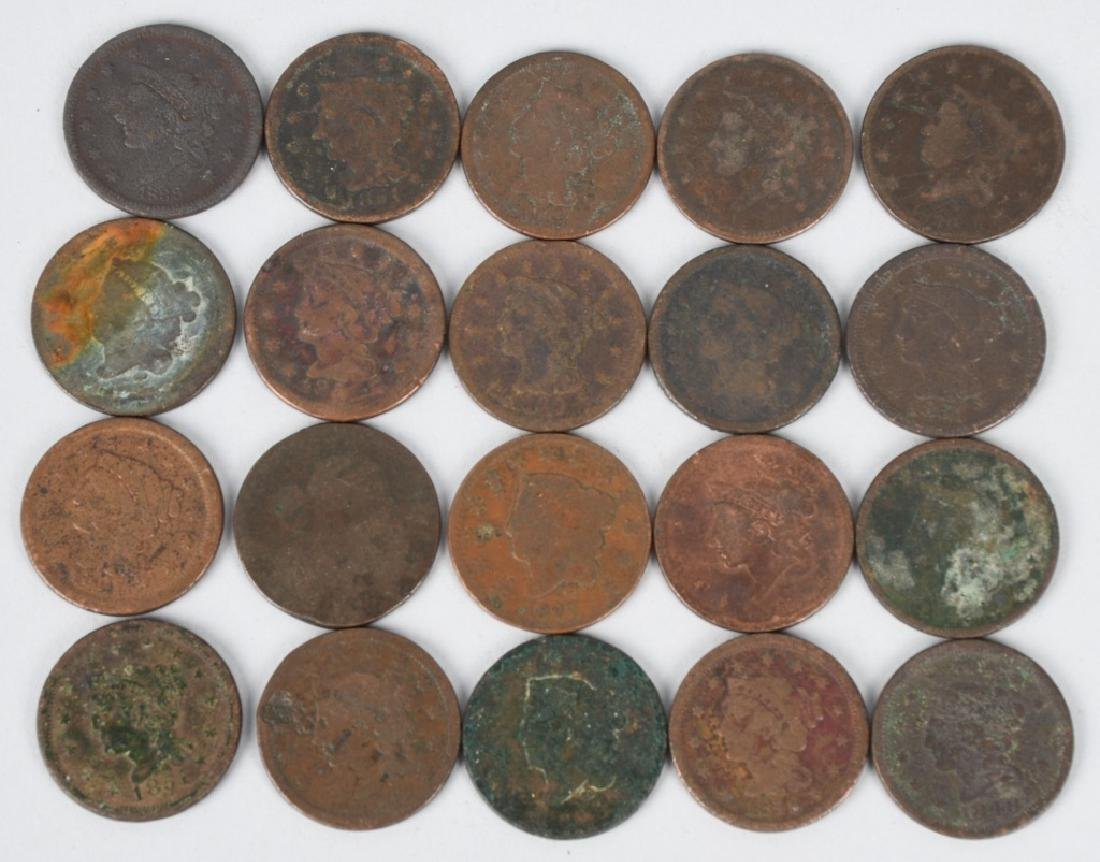 20 US LARGE CENTS