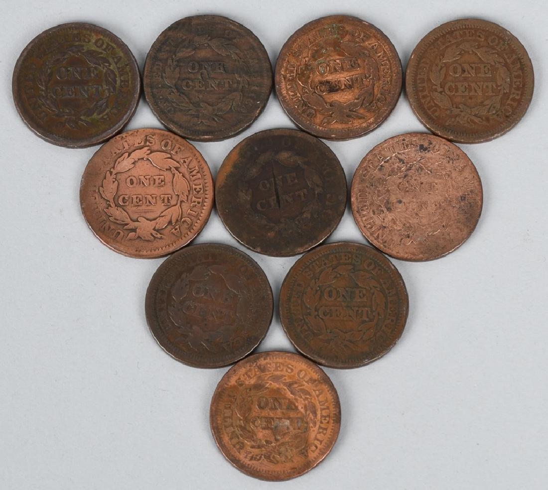 10- US LARGE CENTS 1822-1853 - 2
