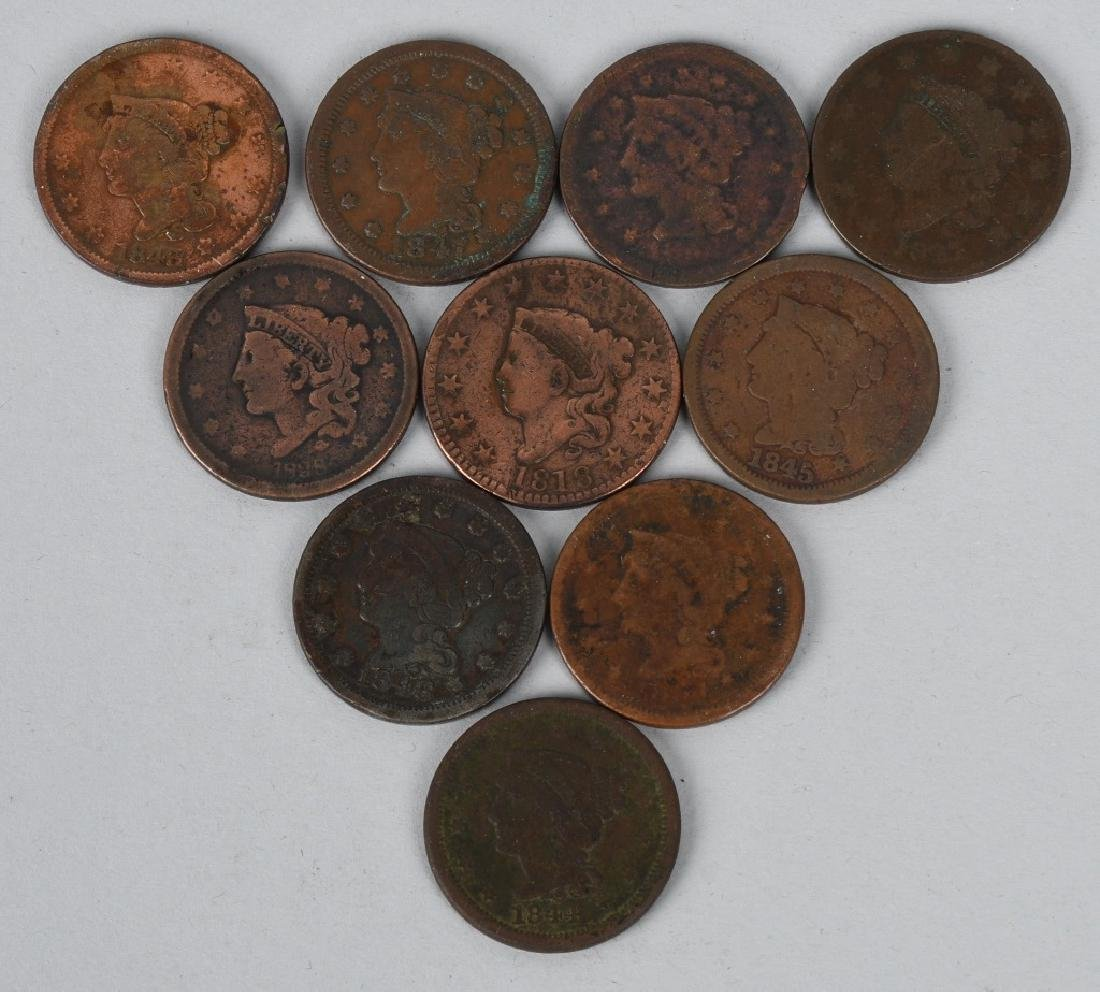 10- US LARGE CENTS 1818-1854